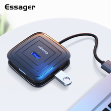 Essager USB HUB 4 Port USB 3.0 Splitter For MacBook Pro Surface Multi USB 2.0 HUB Adapter With Power Supply For Computer OTG HUB