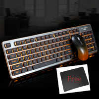 Jelly Comb RGB Backlit 2.4G Wirelss Keyboard Mouse Comb for Laptop PC Rechargerable Silent Wireless Keyboard Mouse Set for Gamer