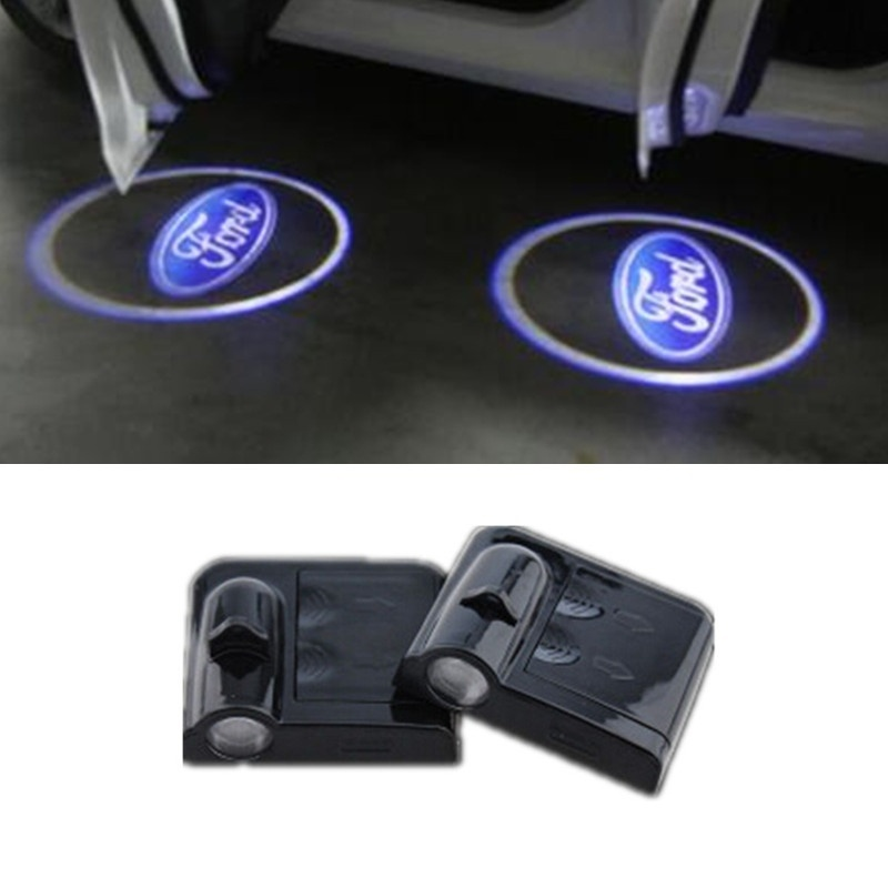 1pc Car Logo Ghost Shadow Light Laser Projector Lights For Ford Emblem Focus Kuga Fusion Mondeo Fiesta Transit Mustang Ranger
