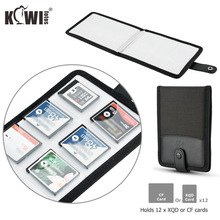 Waterproof Memory Card Case Storage Pouch Holder Organizer for 12 XQD / CF Card Portable Bag Card Keeper Protector Cover