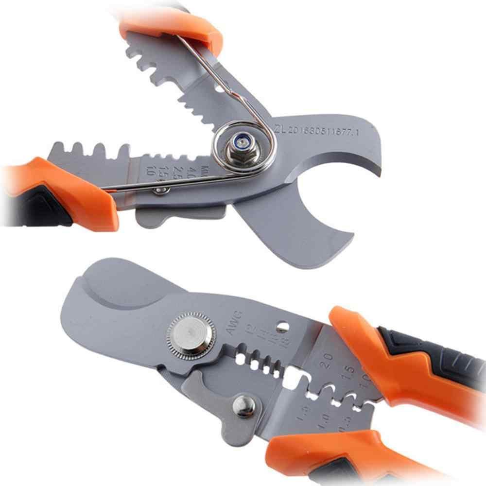 Multi strumento Pinze di Piegatura Pinze Cavo Wire Stripper Cutter Multi funzionale A Scatto Terminali Ad Anello Crimpper Strumenti da Falegname