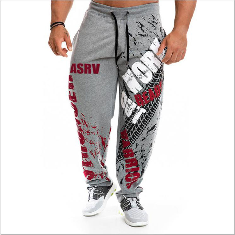 Mens Joggers Casual Pants Fitness Men Sportswear Tracksuit Bottoms Skinny Sweatpants Trousers Black  Jogger Track Pants