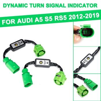 Para Audi A5 S5 RS5 2012-2019 2 uds indicador de señal de giro dinámico LED luz trasera módulo Cable arnés de cables luz trasera izquierda y derecha