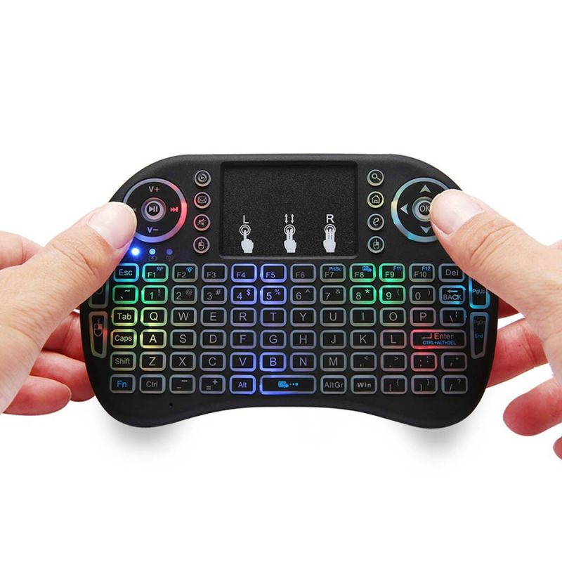 7 Color Backlit I8 Mini Wireless Keyboard 2.4ghz English 3 Colour Air Mouse For Computer Smart TV Web Player X-BOX
