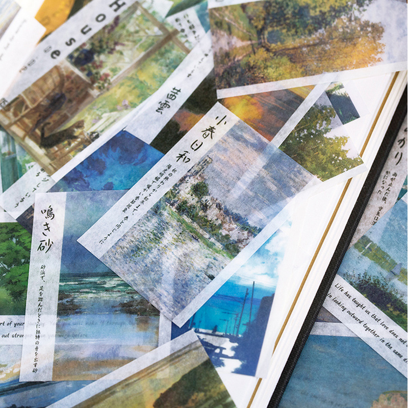 60 Pcs/lot Creative Landscape Washi Paper Sticker DIY Scrapbooking Diary Album Sticker Post Kawaii Stationery School Supplies