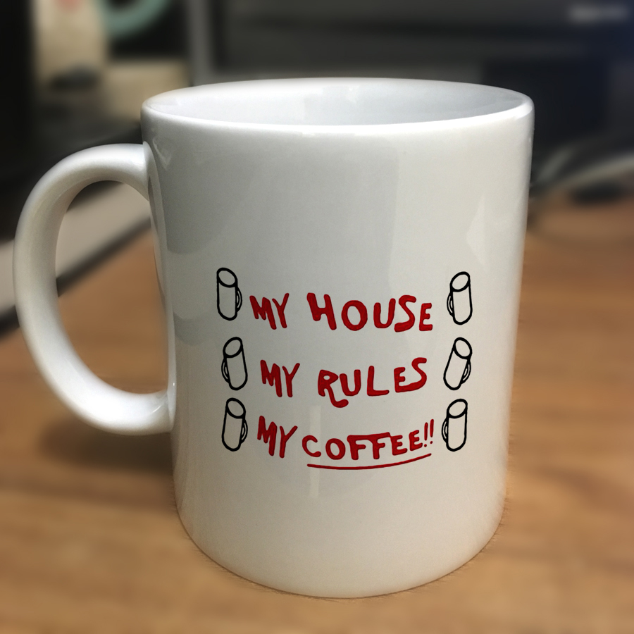 2019 Knives Out My House My Rules My Coffee Mugs 110z Ceramic Christmas Girl Gift Tea Milk Cup Mugs(China)