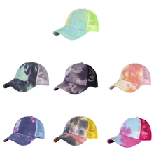 Baseball Cap Sunshade Breathable Cotton Ponytail Hat Headwear Outdoor Sports Wear With Adjustable Back Closure For Messy