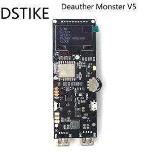 Image 1 - DSTIKE Placa de desarrollo WiFi Deauther Monster V5, ESP8266 18650, protección inversa, antena, funda, Banco de energía, 5V, 2A