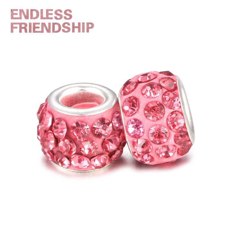HOMOD moda 19 kolorów DIY żywica dżetów koraliki pasuje marka Charms bransoletki naszyjniki koraliki europejskie tworzenia biżuterii