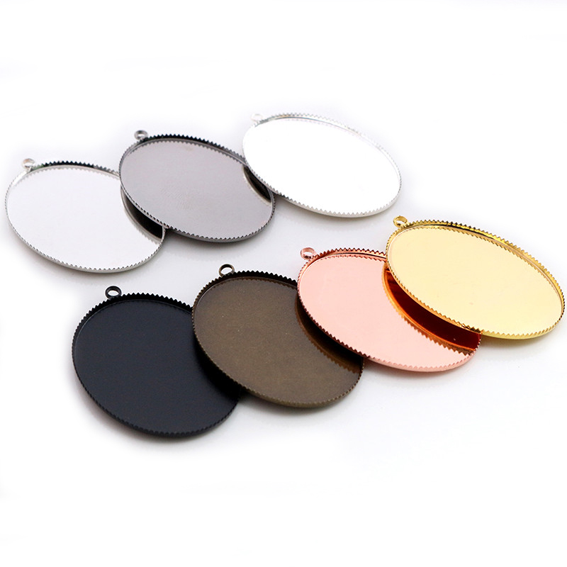 New Fashion 5pcs 30x40mm Inner Size 6 Colors Plated Classic Style Cabochon Base Setting Findings Connection Base