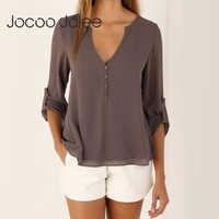 Jocoo Jolee Fashion Women Blouse 2019 Female Plus Size 5XL Long Sleeve Chiffon Blouse Elegant Lady Loose Tops Chic Women Clothes