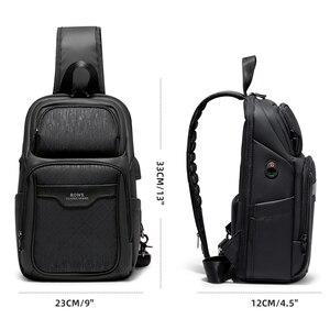 Image 5 - Fenruien 2020 nuevas bolsas de mensajero de hombro multifunción carga USB impermeable bolsos cruzados para hombre bolsa de pecho de viaje corto paquete