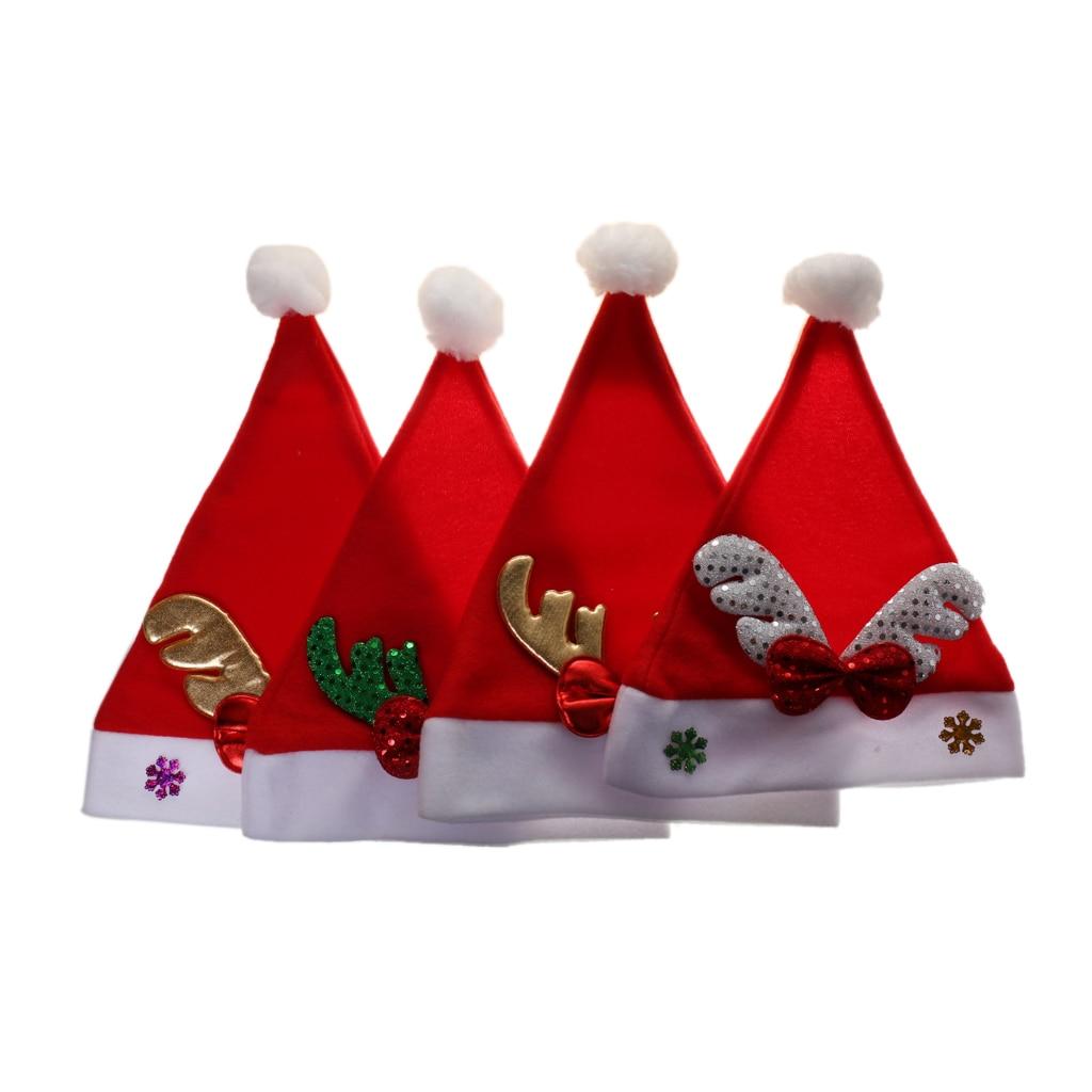 4pcs Christmas Hat Children Kid Santa Xmas Party DressUp Holiday Accessories