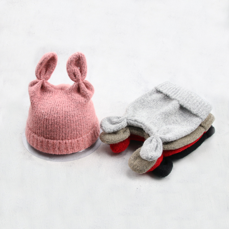 Cute Knitted Hat For Baby Girl Boy 2019 New Winter Kid Toddler Warm Beanie Autumn Cap Accessories