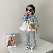 2020 outono nova chegada meninas manga longa 2 peças terno topo + calças meninas boutique roupas