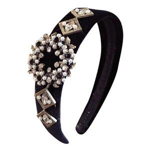 Nowe opaski do włosów ślubne włosy luksusowe świecący szary kryształ Hairband Bridal kamień Rhinestone pałąk kobiety biżuteria do włosów 1111