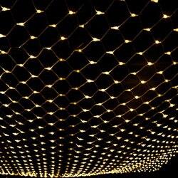 مصابيح شبكية الصيد AC220V 110 فولت عيد الميلاد جارلاند LED سلسلة الجنية الستار أضواء 6X4 متر لعيد الميلاد حديقة الزفاف الديكور
