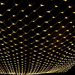 Fischernetz Lichter AC220V 110V Weihnachten Girlande LED String Fairy Vorhang Lichter 6X4 m für Xmas Party garten Hochzeit Deco