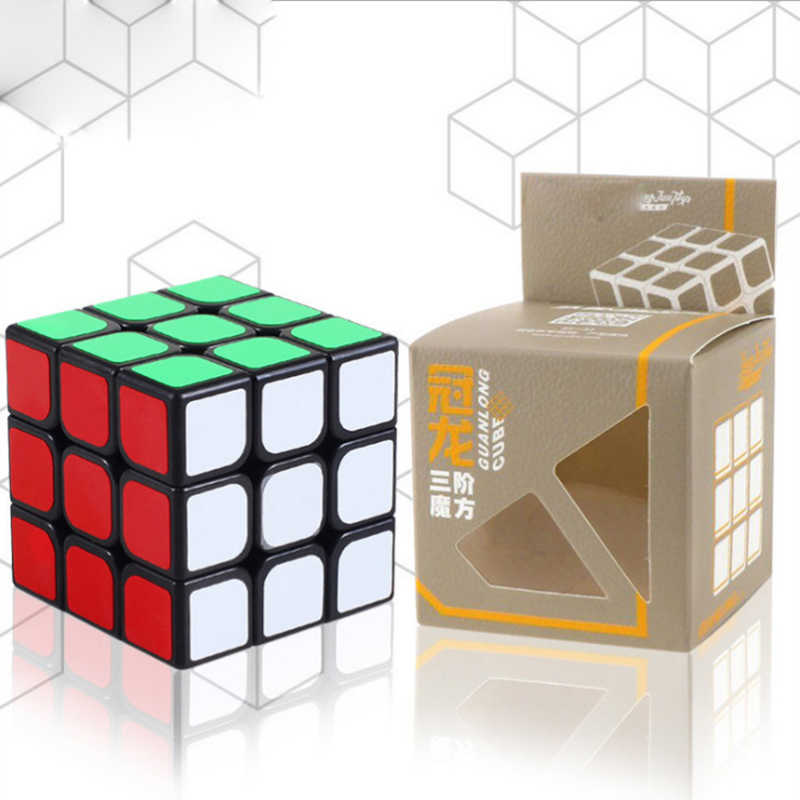 Кубик Рубика 3x3x3 шесть цветов Professional Magic neo Cube Speed Puzzle Кубики игрушки для детей Лучший подарок cubo