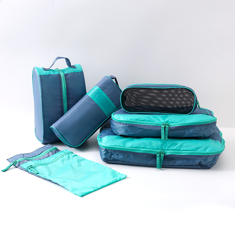 7PCS/Set Travel Storage Bag Waterproof Luggage Organizer Cube For Clothing Underwear Bags Home Travel Portable Shoe Packet