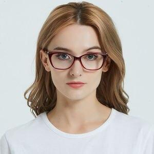 Image 3 - LuckTime موضة صغيرة الماس نظارات إطار الرجعية مربع امرأة قصر النظر نظارات إطار محظوظ الوقت وصفة طبية إطارات النظارات 1795
