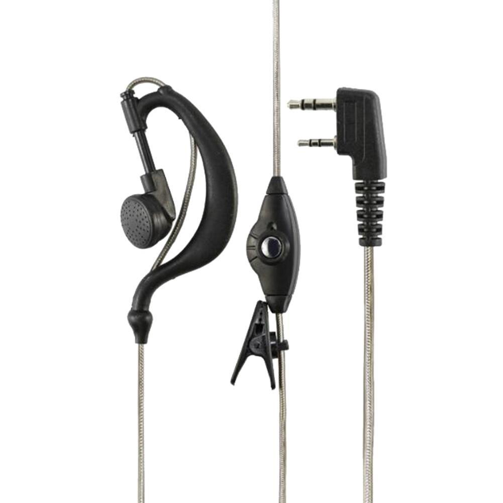2Pin Walkie-Talkie Earhook Speaker Earphone Earpiece Interphone Pinganillo For-BaoFeng BF-888S UV5R UV82 гарнитура для рацииb