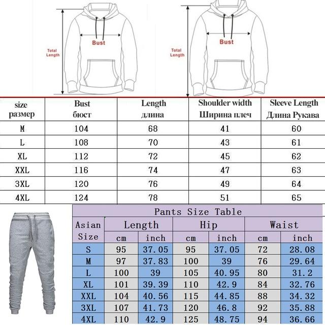 2020 ανδρικό αθλητικό παντελόνι σετ 2 τεμαχίων φούτερ με κουκούλα + παντελόνι