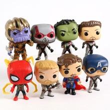 Avengers Endgame Iron Man Captain America Hulk Doctor Strange Thor Spiderman Thanos Ant-man Figures Super Hero Toys 8pcs/set