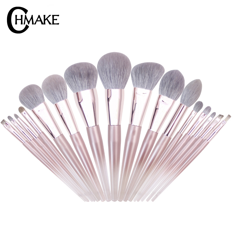 CHMAKE 16pcs acrylic Rose Gold Makeup brushes set Professional Beauty Make up brush Foundation Powder Blusher brush Goat hair-in Eye Shadow Applicator from Beauty & Health    2