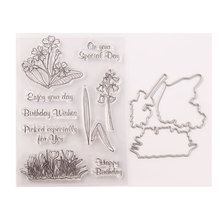 Metal Cutting Dies and Rubber Stamps Scrapbooking Morning Glory Craft Die Cut Stencil Card Make Album Sheet Decoration jc rubber stamps and metal cutting dies scrapbooking craft house pet dog s home stencil for card making album sheet decoration