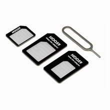 TianJie sim card adapter 2FF 3FF 4FF SIM card pin 4 in 1 Convert Nano SIM Card to Micro Standard Adapter(China)