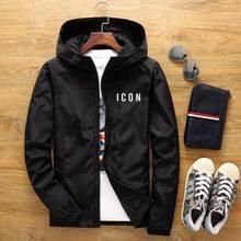 ICON giacca Bomber con cappuccio Casual da uomo nuova primavera e autunno Hip-hop Plus Size giacca a vento sportiva con cerniera giacca da uomo