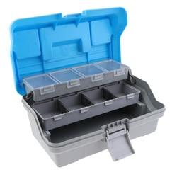 32cm X 20cm X 15cm 3 warstwy pudełko ze sprzętem wędkarskim haczyki do przynęt ołowiane klipsy bezpieczeństwa anti plątanina europa zbiornik połowów schowek w Skrzynie wędkarskie od Sport i rozrywka na
