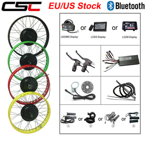 Electric snow bicycle Conversion Kit 20 24 26 inch 4.0 Tyre 36V 250w 500w 48v 1000W 1500W Fat bike motor wheel 4 color for ebike(China)
