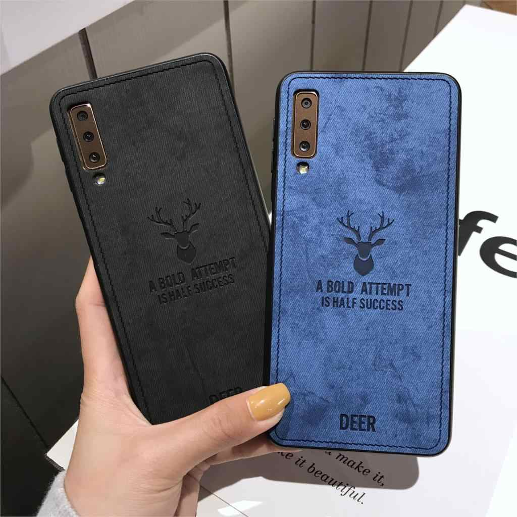 Deer Cloth Silicone Soft Case For Samsung Galaxy A7 A6 Plus A8 A9 2018 S10 S10E S9 S8 Note 10 9 8 Cover Caso Fundas Phone Cases