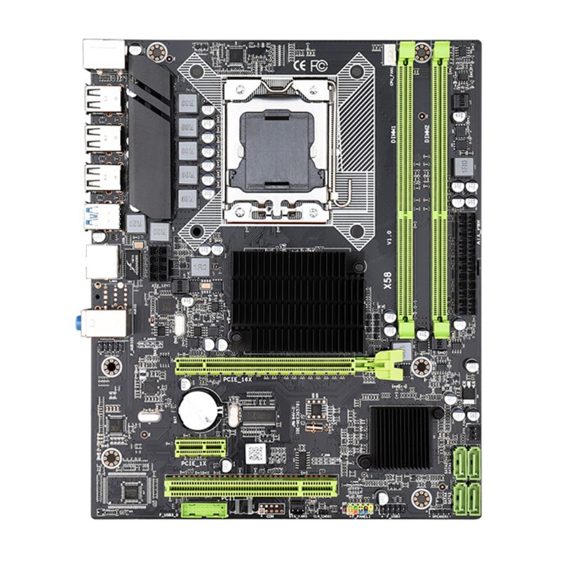 X58 Motherboard LGA 1366 I7 5675 DDR3 Motherboard LGA1366 1366PIN Mainboard Support RECC 32GB SB3.0 For Computer Motherboard