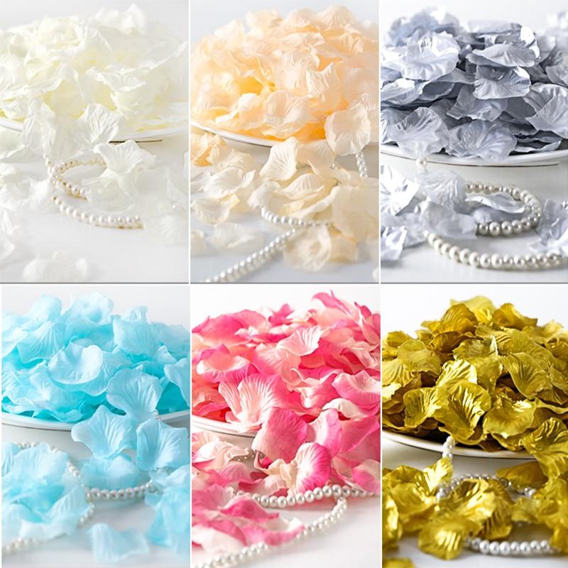 500PCS/Lot 5*5CM Silk Rose Petals For Wedding Decoration Romantic Artificial Rose Flower Petals 31Colors Wedding Accessories