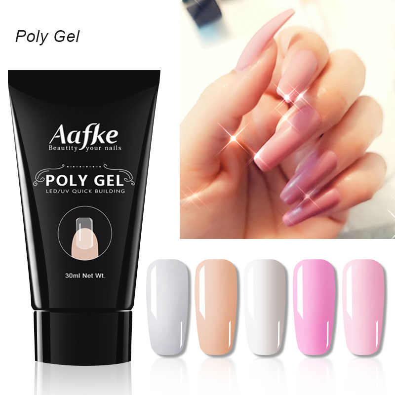 30 Ml Polygel Poly Gel Quick Building Polygel Crystal Jelly Hard Poli Gel Acryl Soak Off Nail Extension Slip Oplossing ZJJ3085