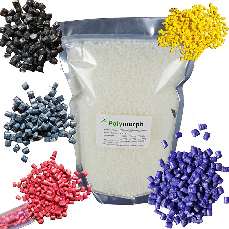 100g polymorph and 5 color Kits Moldable Plastic Instamorph Shape Shifter Thing Plastimake Thermoplastic for hobbyist