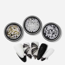 цена на One box 3d Nail Rhinestone Various Size ABS Pearls Charming Nail Art Decoration Alloy Beads Studs Manicure Jewelry Gems