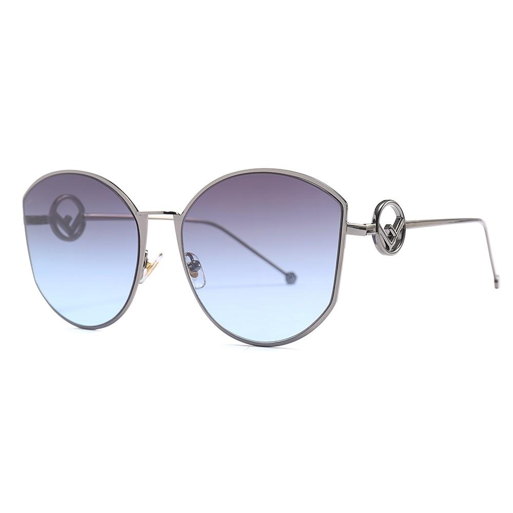 LONSY Retro High Quality Oversized Round Sunglasses Women Brand Designer Sun Glasses For Female Oculos De Sol Gafas UV400