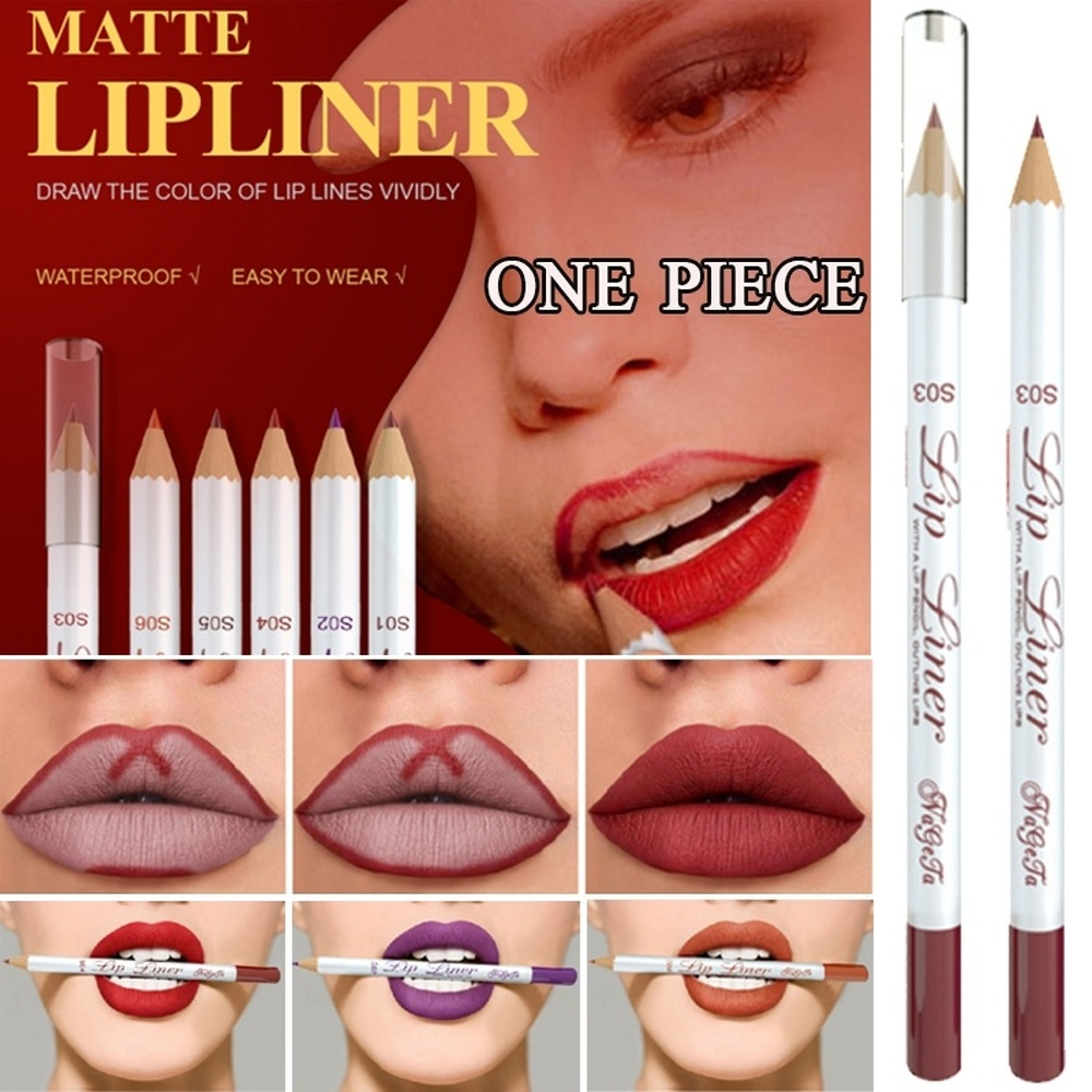 6 Colors Matte <font><b>Lip</b></font> Liner <font><b>Lipstick</b></font> Pen Fashion Long Lasting Pigments Waterproof No Blooming Beauty <font><b>Makeup</b></font> <font><b>Lipstick</b></font> <font><b>Lip</b></font> Liner <font><b>Set</b></font> image