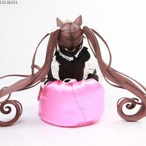 Image 3 - 1/4 escala dos desenhos animados sexy gato menina nekopara anime figura de ação chocolat maid sofá ver vol.1 modelo sentado collectible boneca 22cm
