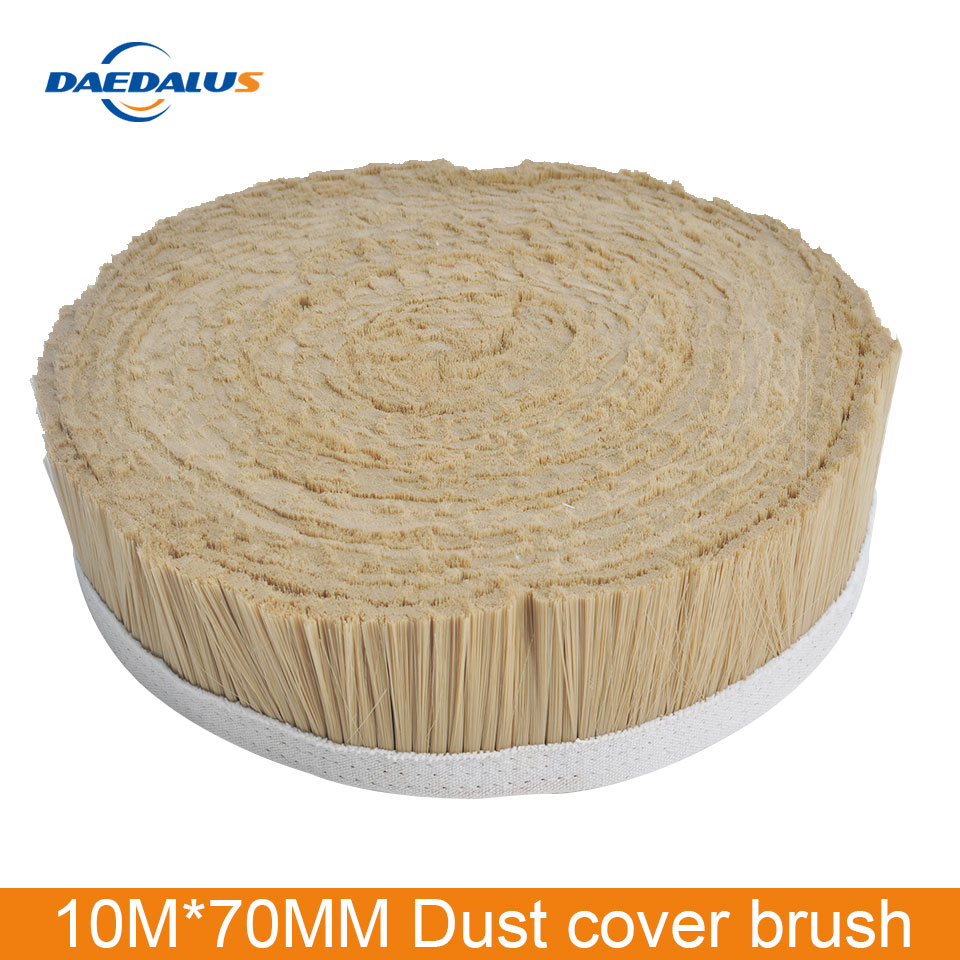10M X 70mm CNC Brush White / Black / Gold Engraving Machine Vacuum Cleaner Brush For Spindle Milling Planer Woodworking