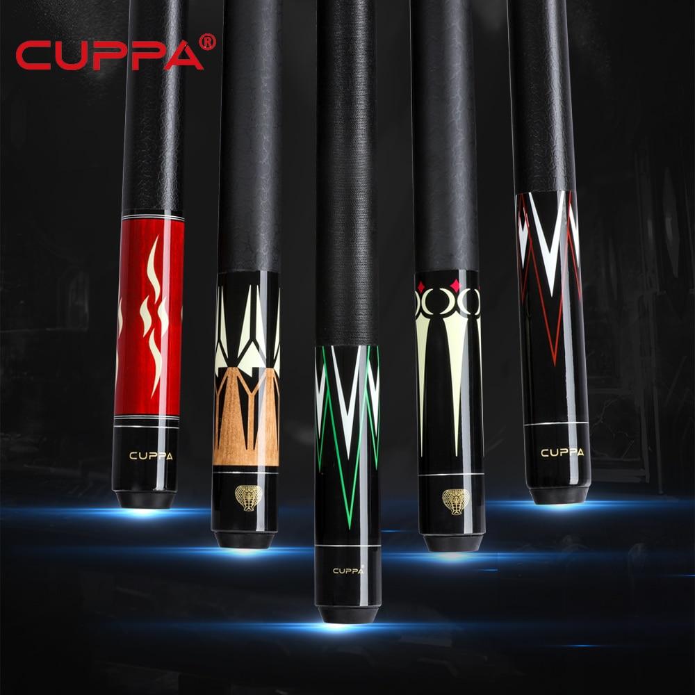 Cuppa Billiard Pool Cue Stick With Case 12.75 Mm 11.75 Mm 10mm Pool Cue Kit Durable Professional Set Billiard Cue Black 8 Kit