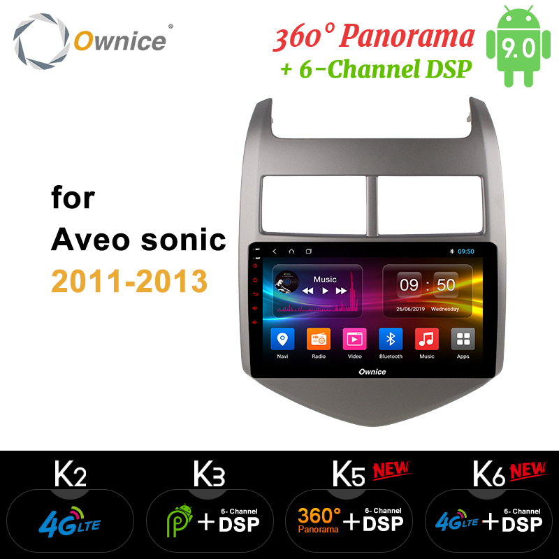 Ownice 8Core Android9.0 Car DVD player FOR CHEVROLET <font><b>AVEO</b></font> 3 SONIC 2011 2012 <font><b>2013</b></font> k3 k5 k6 GPS Navi 360 Panorama DSP 4G LTE SPDIF image