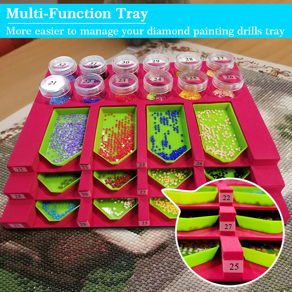 8 Slots Tray Organizer Multi-Boat Holder for Trays Diamond Painting Tools Kits Ideal Gift for Adults . Diamond Painting Accessories Tray Tower for Diamonds