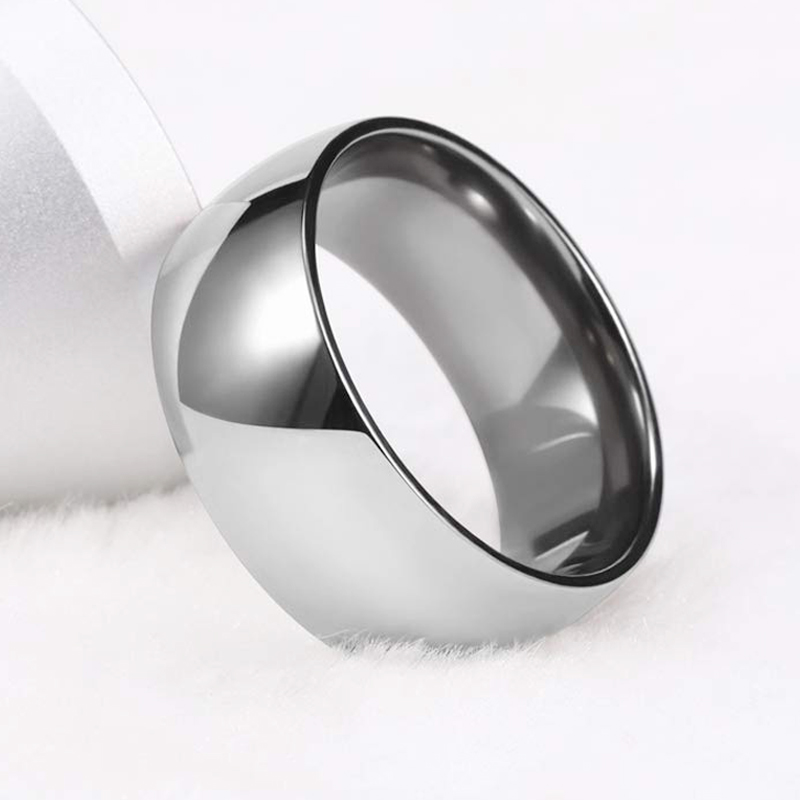 Tigrade 10mm Wide Men Titanium Cool Ring Polished Silver thumb Glossy Rings Big Finger Rings Dome <font><b>Unisex</b></font> Jewelry Fashion men <font><b>bts</b></font> image