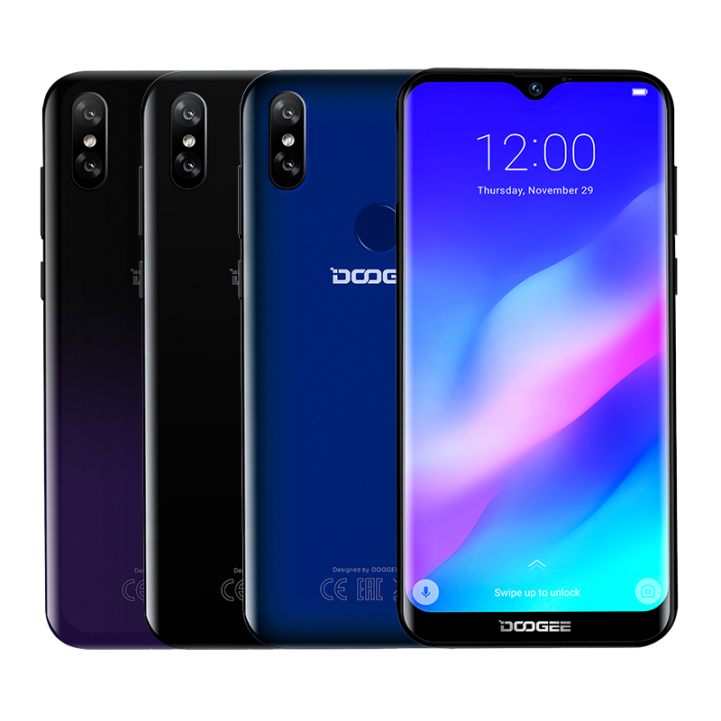 DOOGEE Y8 Plus Smartphone Android 9.0 MTK6761 3GB RAM 32GB ROM FDD LTE 6.21inch 19:9 Waterdrop Screen 4000mAh Dual SIM 13.0MP