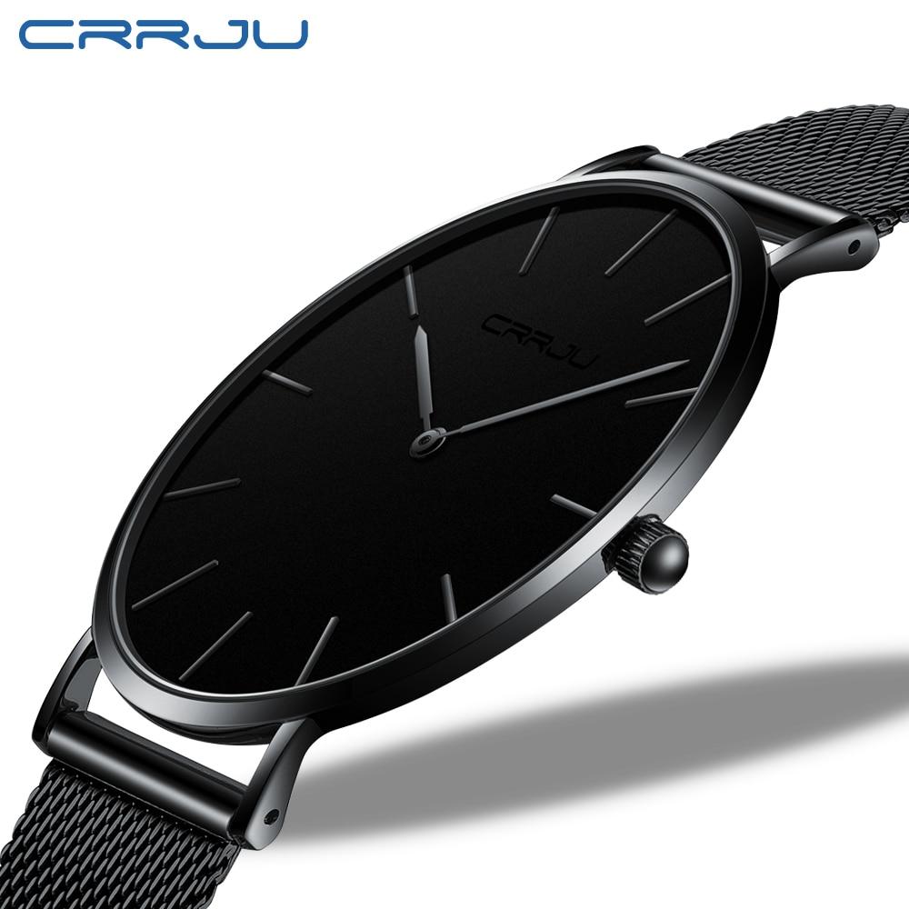 CRRJU New Fashion Mens Watches Top Brand Luxury Sport Waterproof Simple Ultra-Thin Watches Men Quartz Clock Relogio Masculino